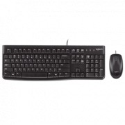 LOGITECH Žična tastatura i miš MK120 (Crna) 920-002586