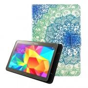 Univerzális tablet tok kivehető mágneses belsővel 7-8 colos készülékekhez - KÉK MANDALA