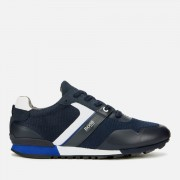 BOSS Men's Parkour Mesh Running Style Trainers - Dark Blue - UK 8 - Blue