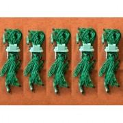 ZEEKO Electric Diwali Green Color Rice Lights Approx 5 mtr (Pack Of 5)