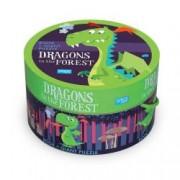 Puzzle 30 piese cu carte - Dragoni in padure