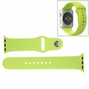 For Apple Watch Sport 42mm High-performance Longer Rubber Sport Watchband with Pin-and-tuck Closure(Green)