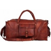 Pranjals House (Expandable) genuine leather duffle for gym/travelling/ overnite bag Travel Duffel Bag(Brown)