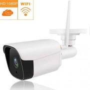 HAWK LI Cámara de Seguridad para Exteriores 1080P Resistente a la Intemperie Cámara de Bala WiFi Cámara CCTV inalámbrica con visión Nocturna Detección de Movimiento de Audio bidireccional