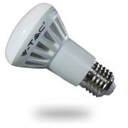 LED lámpa , égő , szpot , E27 foglalat , R63 , 8 Watt , hideg fehér