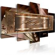 Willa Arlo Interiors 5-tlg. Leinwandbilder-Set Golden Gentleness Willa Arlo Interiors Größe: 50 cm H x 100 cm B