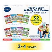 VTech Touch and Teach Activity Desk Deluxe 4-in-1 Pre-Kindergarten Bundle Expansion Pack for Age 2-4