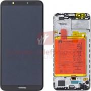 Huawei - 02351USA - Display per Huawei Y7 Prime 2018 (Ori. Service Pack - Black - Con frame)