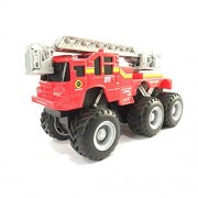 Maisto Builder Zone Quarry Monsters Ladder Truck Red