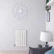 Hudson Reed Radiateur design électrique horizontal - Blanc - 63,5 cm x 42 cm x 4,6 cm - Delta