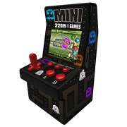 Goolsky 16 Bit Mini Classic Arcade Game Cabinet Machine Retro Handheld Video Player with Built-in 220 Games Portable Gaming Electronic Novelty Toys