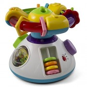 Baby Musical Activity Play Center Cube Rotating Wheel With Projection Light Playing Music Lullaby