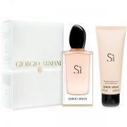 Armani Si Комплект (EDP 100ml + BL 75ml) за Жени