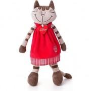 Jucarie de plus Lumpin Angelique pisica in rochita rosie 36 cm