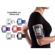 Mobfit fascia da braccio per sport con custodia protettiva per iphone 4 4s cellulare piccolo 4-5 pollici assortiti (no scelta)