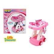 The Mini Trolley Makeup And Hair Styling Accessory Kit From Little Treasures Comes With An Exciting And Extensive 34 Piece Makeup Pretend Play Station For Girls Who Love Playing Dress Up