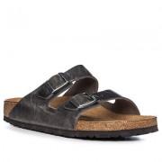 BIRKENSTOCK Schuhe Herren, Glattleder, grau