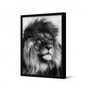 Pôdevache Mweka - Toile imprimée lion 92,5x65cm - Couleur - Noir / Blanc