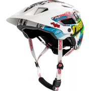 Oneal Defender 2.0 Villain Bicycle Helmet White Pink Green L XL