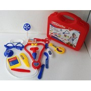HEER Doctor Set Doctor Nurse Family Oprated Set Medical Suitcasetoy For Kids (Red)