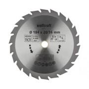 Disc fierastrau circular Wolfcraft Ø184x2,4x16 mm 22 dinti