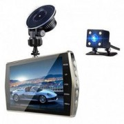 Camera Video Auto DVR Dubla FullHD Techstar R T667 Unghi 170 Display 4 inch Senzori Miscare si Night Vision