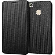 Unistuff Impact Resistant 2 Card Slot,Anti-Slip Design,Drop Protection,Ultra Slim] Flip Cover for Xiaomi Redmi 4(Black)