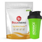 Advance Nutratech BulkAmino Egg White Powder 500gram (1.1lbs) Unflavoured With Free Shaker