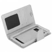 Avizar Funda Libro Plateada para Smartphone Max. 162x155x81mm