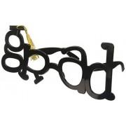 Sunstaches Grad Shape Tassle Sunglasses, Black