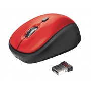 Trust Yvi Mini Mouse Red Оптична Безжична Мишка