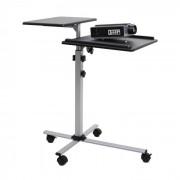 FrontStage TS-2 Table pour vidéoprojecteur 2 étages 4 roulettes Hauteur réglable
