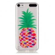 Doorzichtig ananas hoesje iPod Touch 5 en 6 Silicone pineapple case Kleurrijk