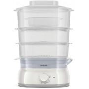 Philips Уред за готвене на пара Daily Collection 3, 9 L, 900 W, съд за ориз/супа, инфузер за подправки и аромати, контейнер за яйца, цвят бял