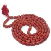 CEYLONMINE- Red Coral Beads Mala Original & Natural Stone Coral Mala For Unisex