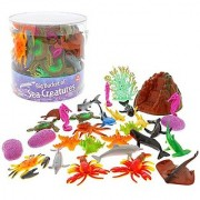 Ocean Sea Creature Action Figures - Big Bucket of Sea Creatures - Huge 30 Piece Set