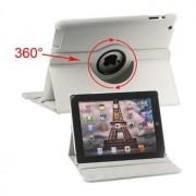 Rotary Leren Tas - iPad 2, iPad 3, iPad 4 - Wit