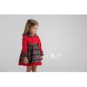 Vestido infantil cuadros tipo escoces de Loan Bor