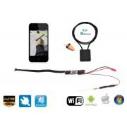 Unikátní špionážní set - Spy sluchátko + pinhole WiFi HD kamera