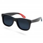 Paul Riley Schwarze Polarisierte Skateboard Holz Sonnenbrille