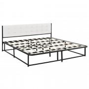 [en.casa]® Kovová manželská posteľ AANB-0703 - s roštom - 180 x 200 cm