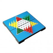 Magideal 30pcs Magnetic Pegs Board Game Plastic Hexagon Chinese Checkers Chess Toy
