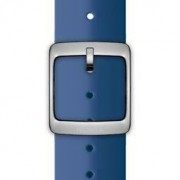 Nokia 4381629 cinturino per orologio Watch strap Silicone, Acciaio inossidabile Blu