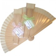 Decorated Varnished Wedding Fan