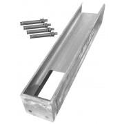 Arvotec Aluminium-Bodenplatte lang für 10 x 10 cm Zaunpfosten, Länge 105 cm