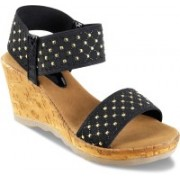 SOLE HEAD Women Black Wedges