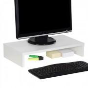 IDIMEX Support d'écran d'ordinateur MONITOR, en mélaminé blanc mat