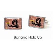 Tyler & Tyler Stencilart Red Bricks Cufflinks Banana Hold Up
