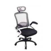 CLP Silla de oficina Justin, gris gris, altura del asiento