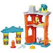 Jucarie Play-Doh Town Firehouse Playset
